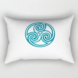 St. Patrick's Day Celtic Blue Mandala #5 Rectangular Pillow