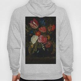 """Maria van Oosterwijck """"Flowers in a vase on a marble ledge"""" Hoody"""