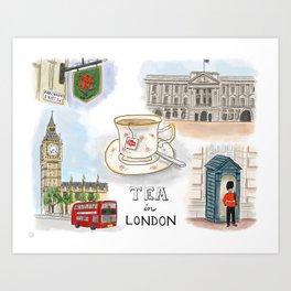 Tea in London England Art Print