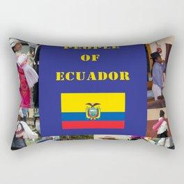The People of Ecuador, Collage Rectangular Pillow