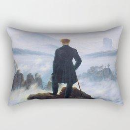 """Caspar David Friedrich """"Wanderer above the sea of fog"""" Rectangular Pillow"""