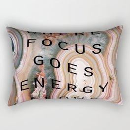 where focus goes energy flows Rectangular Pillow