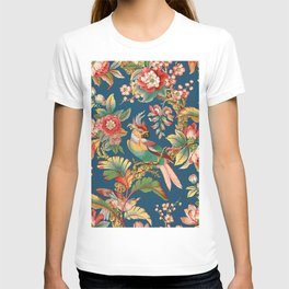 Antique French Chinoiserie in Blue T-shirt