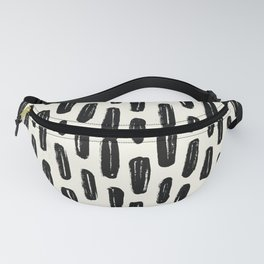 Ivory Vertical Dash Fanny Pack