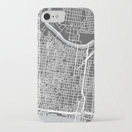 Center City Philadelphia Map iPhone Case