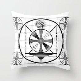 Indian-Head Test Pattern Throw Pillow