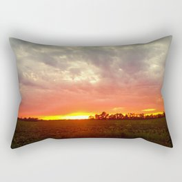 Chasing fire       (Curtain panel #2) Rectangular Pillow