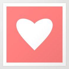 Coral Heart Art Print