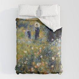 Auguste Renoir Femme avec parasol dans un jardin Comforters
