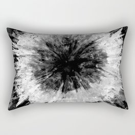 Black and White Tie Dye // Painted // Multi Media Rectangular Pillow