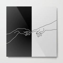 Hands of God and Adam- The creation of Adam Metal Print