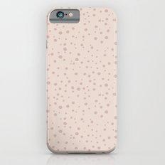 PolkaDots-Rose on Peach Slim Case iPhone 6s