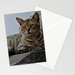 Tiles of a Cat Stationery Cards