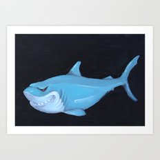 Toy Shark Art Print