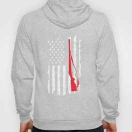 Hunting Hunters USA Flag America Ducking Deer Hunt Shooting Entrap Gift Hoody