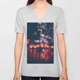 BRIGHT LIGHTS BIG CITY Unisex V-Neck