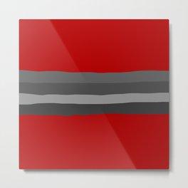 Abstract Grey Lines Metal Print