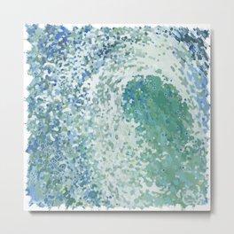 Amazonite Waves Surf Juul art Metal Print