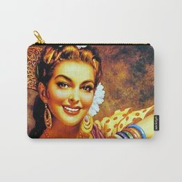 Jesus Helguera Painting of a Mexican Calendar Girl with Bangles Carry-All Pouch