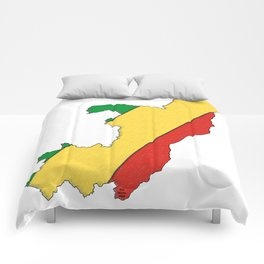 Congo Map with Congolese Flag Comforters