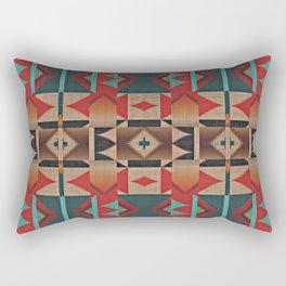 Native American Indian Tribal Mosaic Rustic Cabin Pattern Rectangular Pillow
