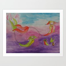 Swimming Art Print