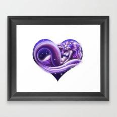 I Heart Mermaids- ver. 1 Framed Art Print