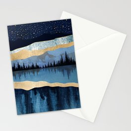 Midnight Lake Stationery Cards