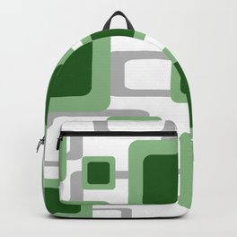 Rectangles green pattern Geometry Design Backpack