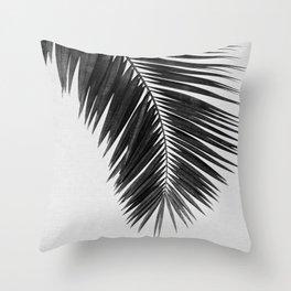 Palm Leaf Black & White I Throw Pillow