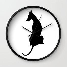 Pip at the Window Wall Clock