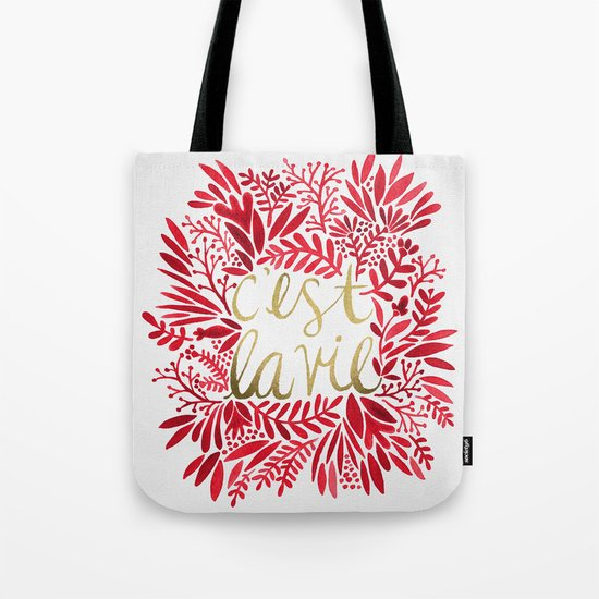 That's Life – Gold & Red Tote Bag