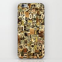 alphabet iPhone & iPod Skins featuring Alphabet by Kerri Swayze