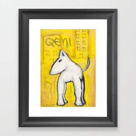 Qeni Framed Art Print