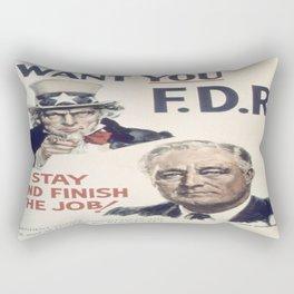 Vintage poster - I Want You FDR Rectangular Pillow