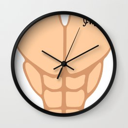 Six Pack I'm 52th Birthday Funny Men Wall Clock