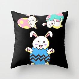 Easter Rabbit Funny Animal Rabbits Bunny Gift Throw Pillow