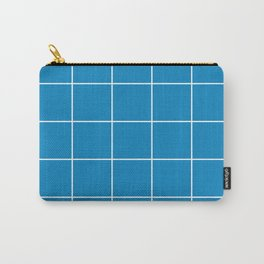 White Grid - Blue BG Carry-All Pouch
