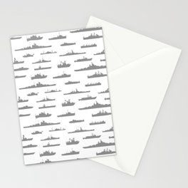 Battleship // Grey Stationery Cards