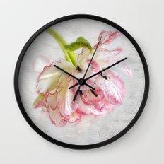 Vintage Tulip Wall Clock