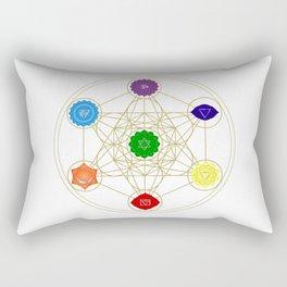 metatron cube seven chakras Rectangular Pillow