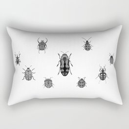Beautiful Bugs White Rectangular Pillow