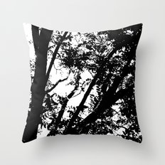 Pecan Tree Silhouette Throw Pillow