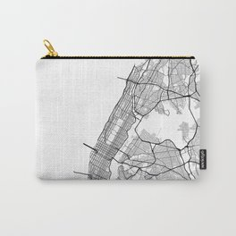 Minimal City Maps - Map Of Manhattan, New York, United States Carry-All Pouch