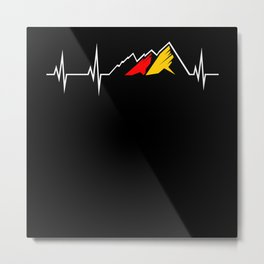 Germany Mountain Heart rate curve Metal Print