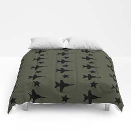 F-18 Hornet Fighter Jet Pattern Comforters