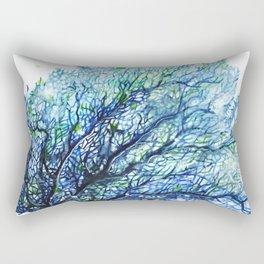 Fan Coral - Aqua Rectangular Pillow