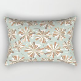 Shattered fragments mint green background Rectangular Pillow