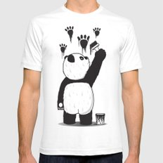 Pandalism White MEDIUM Mens Fitted Tee