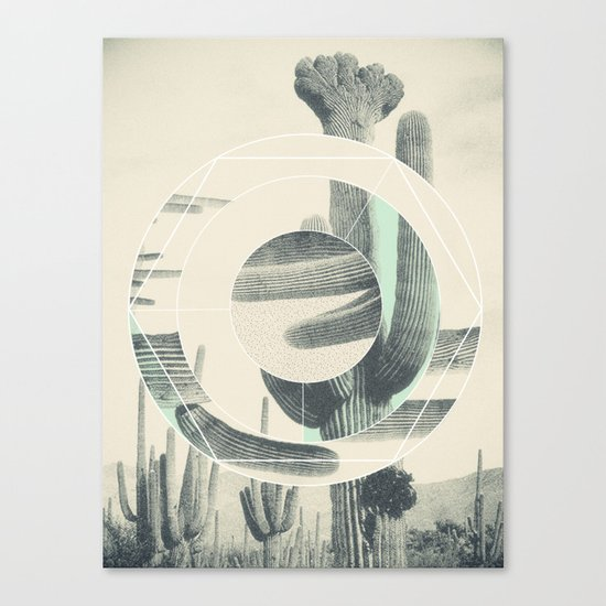 Saguaro Sun Canvas Print